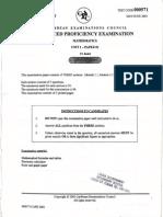 JUNE 2003 CAPE Pure Mathematics U1 P1