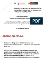 1. Diagnóstico y propuesta para un Sistema de S&E en el Perú - MEF