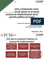1. S&E como herramienta de apoyo en el nuevo proceso de Modernización de la GPP - PCM