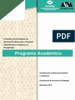 0 Program a Academic o