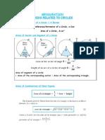 Mensuration Formulas Class x