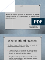 Ethical and Unethical Practice in FMCG Industry