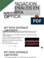 PROPAGACION DE SEÑALES EN LA FIBRA OPTICA