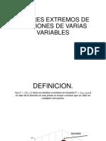 Valores Extremos de Funciones de Varias Variables (2)
