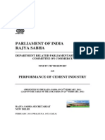 Cement Industry - Report by Parliamentary Standing Committee-Febryary 2011