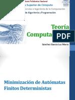 Minimizacion De Automatas Finitos Deterministas