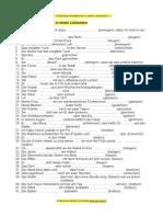 Verb - Schwierige Grundformen - ein Lückentest (DaF Deutsch als Fremdsprache)
