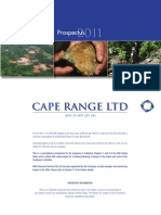Cape Range Ltd Prospectus(1)