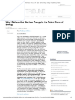 Why I Believe That Nuclear Energy is the Safest Form of Energy - Energy TribuneEnergy Tribune
