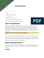 Dipyridamole and Furo