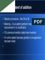Patent Addition