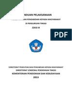 Pedoman Pelaksanaan Penelitian & PPM 2013