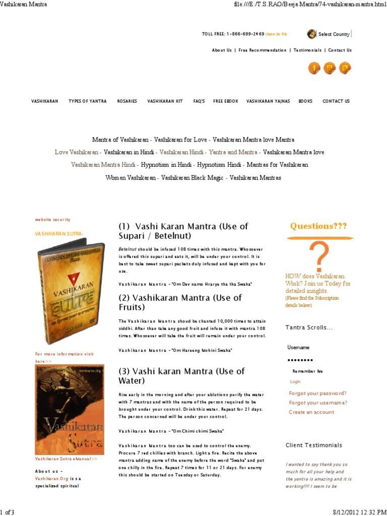 Vashikaran Mantra2 Mantra Ancient Indian Philosophy