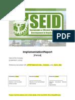 SEID Implementation Report Template