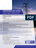 ISO 50001 Lead Implementer - One Page Brochure