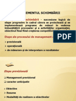 Managementul Schimbarii - I