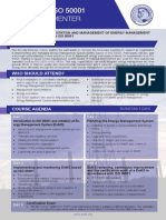 ISO 50001 Lead Implementer - Two Page Brochure