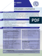 ISO 50001 Lead Auditor - Two Page Brochure