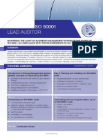 ISO 50001 Lead Auditor - Four Page Brochure