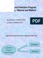 Group VII_ Agricultural Extension Program Planning Material and Method