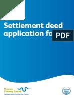 Settlement deed application form