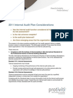 2011 Internal Audit Planning Protiviti