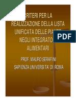 Sana-Sana Academy_2013-Atti_convegni-Mauro Serafini_Universita La Sapienza Di Roma_Lista Unificata Delle Piante