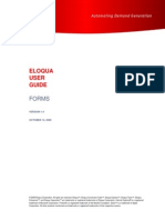 Eloqua User Guide - Creating and Using Forms