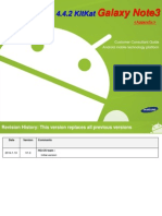 Android OS 4.4.2 KitKat Galaxy Note3 Customer Consultant Guide Ver1.0