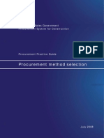 Procurement Method Selection