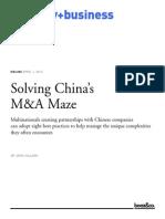 00172 Solving Chinas M&a Maze