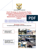 Draft Strategy to Accelerate Public Transport Implementation 2007-2014