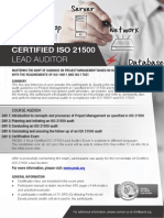 ISO 21500 Lead Auditor - One Page Brochure