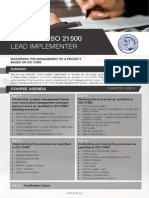 ISO 21500 Lead Implementer - Four Page Brochure