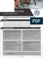 ISO 21500 Lead Auditor - Four Page Brochure