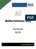 Workflow Performance Tuning
