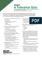 Risk Tolerance Quiz