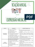 Planificação anual de Expressão Musical