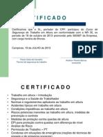 Certificado de treinamento de NR35.ppt