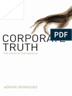 Corporate truth. The Limits to Transparency