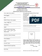 Formulir Pendaftaran KSR 2014