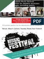 Dulwich Music Festival advert