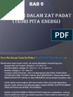 Pertemuan Ke 6 Bab 6 Teori Pita Energi Elektron Dalam Zat Padat