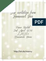 Emmanuel Vass - Piano Recital flyer
