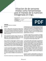 Sensores Remotos Nutricion en Trigo