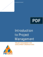 PM4DEV Introduction to Project Management