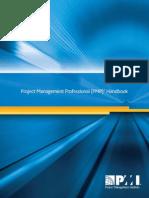 Project Management Professional PMP Handbook LETTER