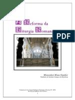 A Reforma Da Liturgia Romana