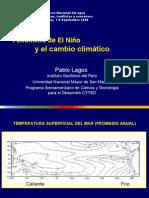 Fenómeno de El Niño y el cambio climático - Pablo Lagos – IGP
