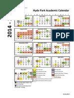 2014-2015 Hyde Park Academic Calendar
